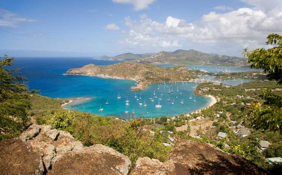 Karibik Island view from shirley heights