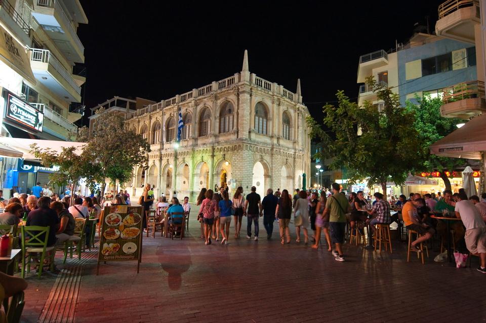 Kreta Urlaub - Heraklion by night